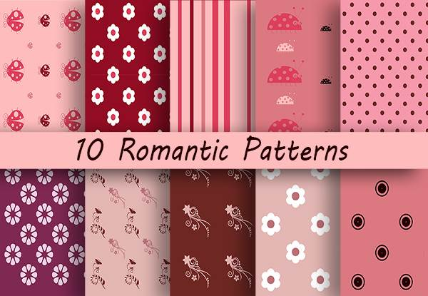 10 Romantic Patterns Graphic By Creative Fabrica Freebies