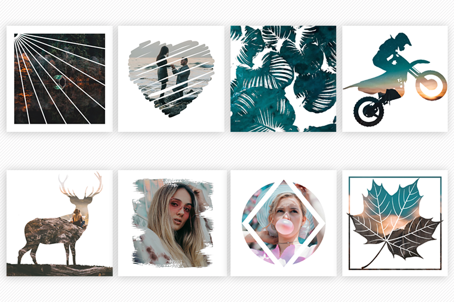 Print on Demand: 100 Instagram Masks PSD Templates Graphic Graphic Templates By Creative Tacos - Image 2