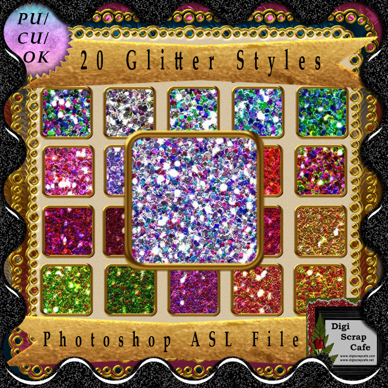 20 CU Glitter Layer Styles & Patterns Graphic Layer Styles By AHDesign - Image 1
