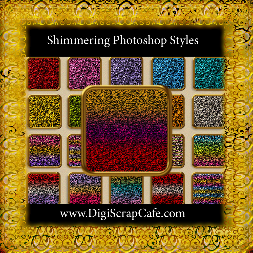 20 Seamless Shimmering Photoshop Styles Graphic By Sojournstar