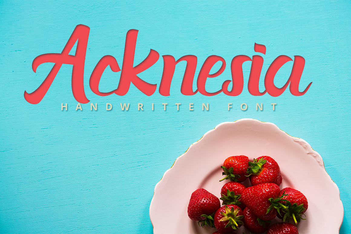 Print on Demand: Acknesia Script & Handwritten Font By Hustletter