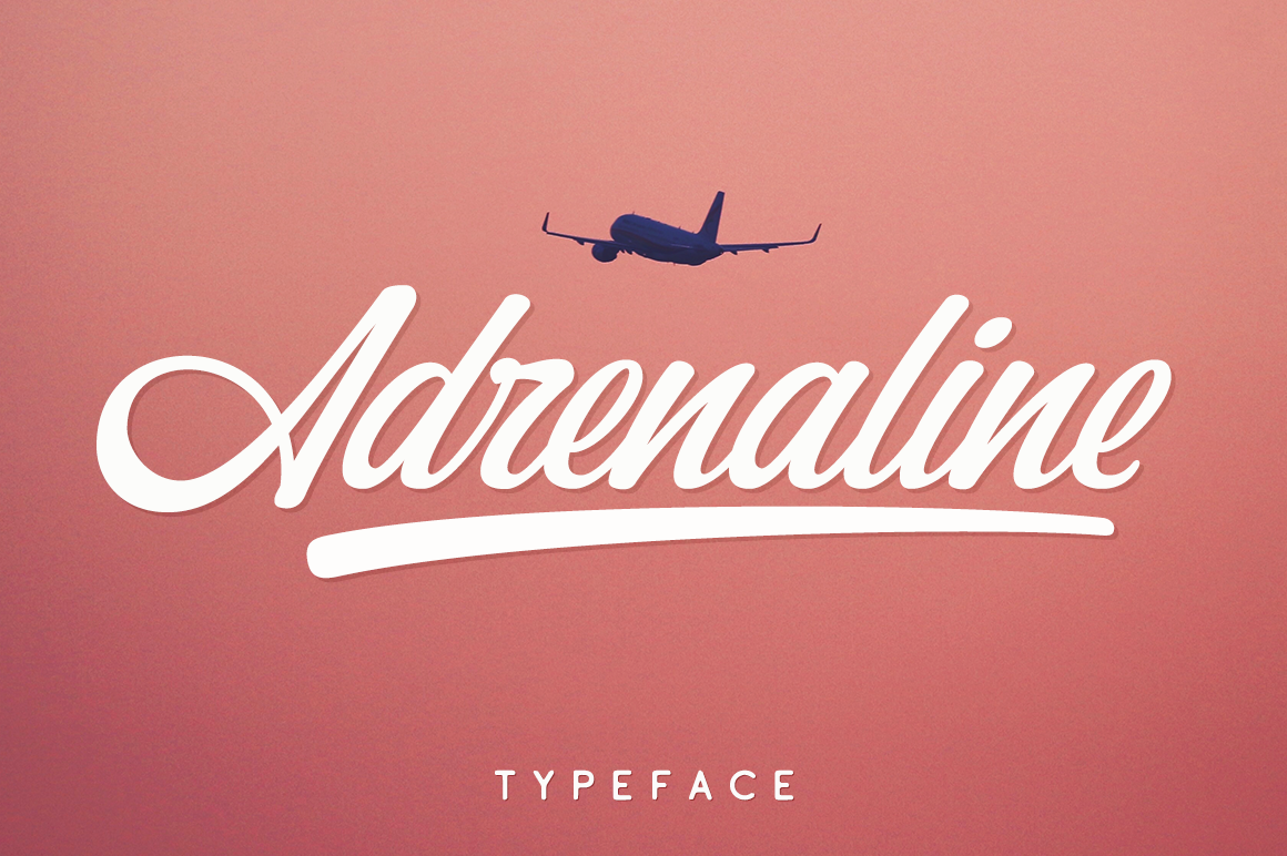 Print on Demand: Adrenaline Script & Handwritten Font By Pasha Larin