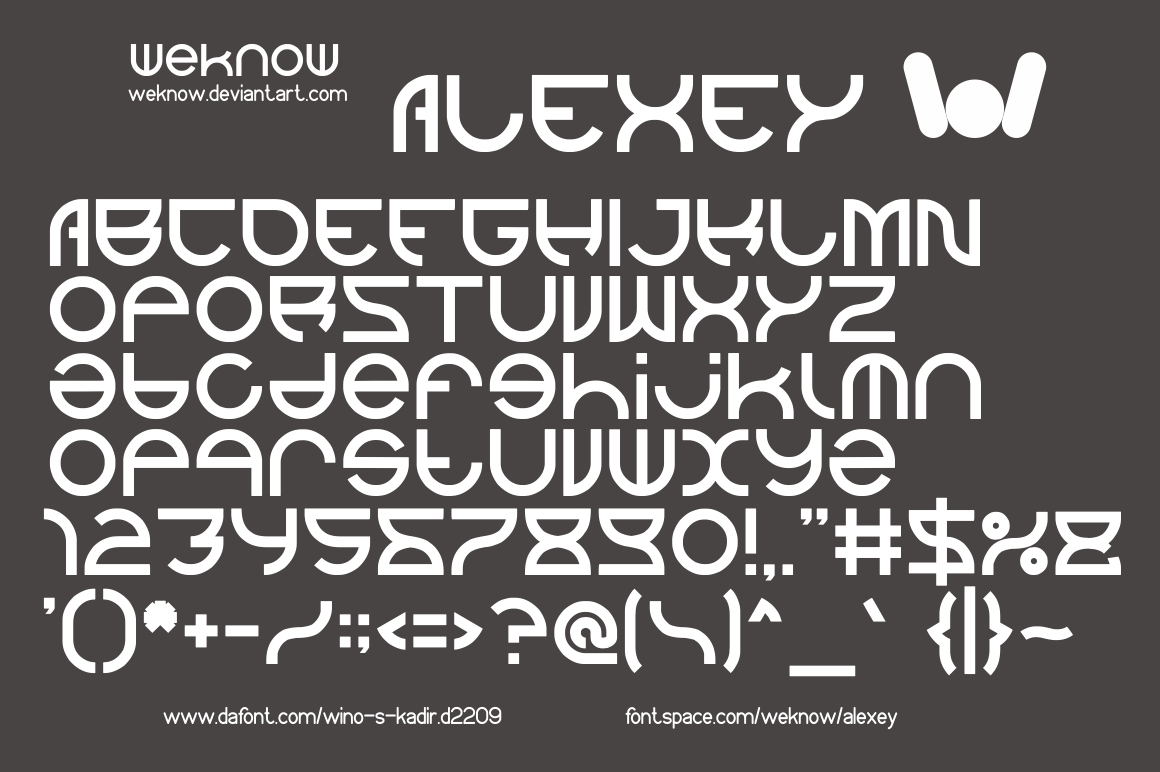 Alexey Font By weknow