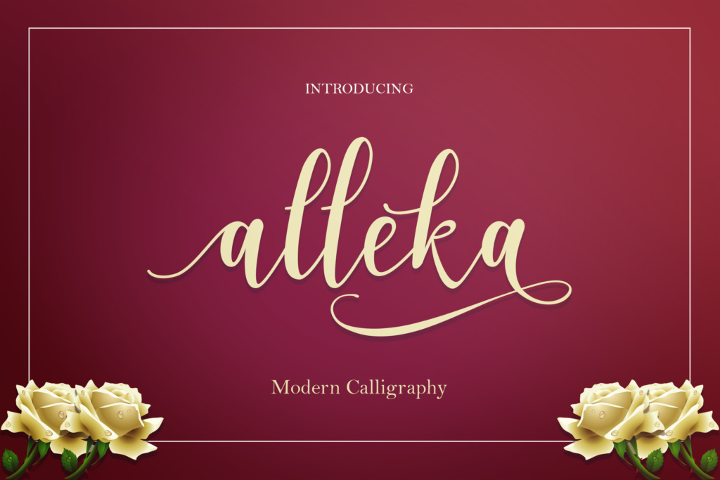 Download Free Alleka Script Font By No Gravity Type Creative Fabrica for Cricut Explore, Silhouette and other cutting machines.