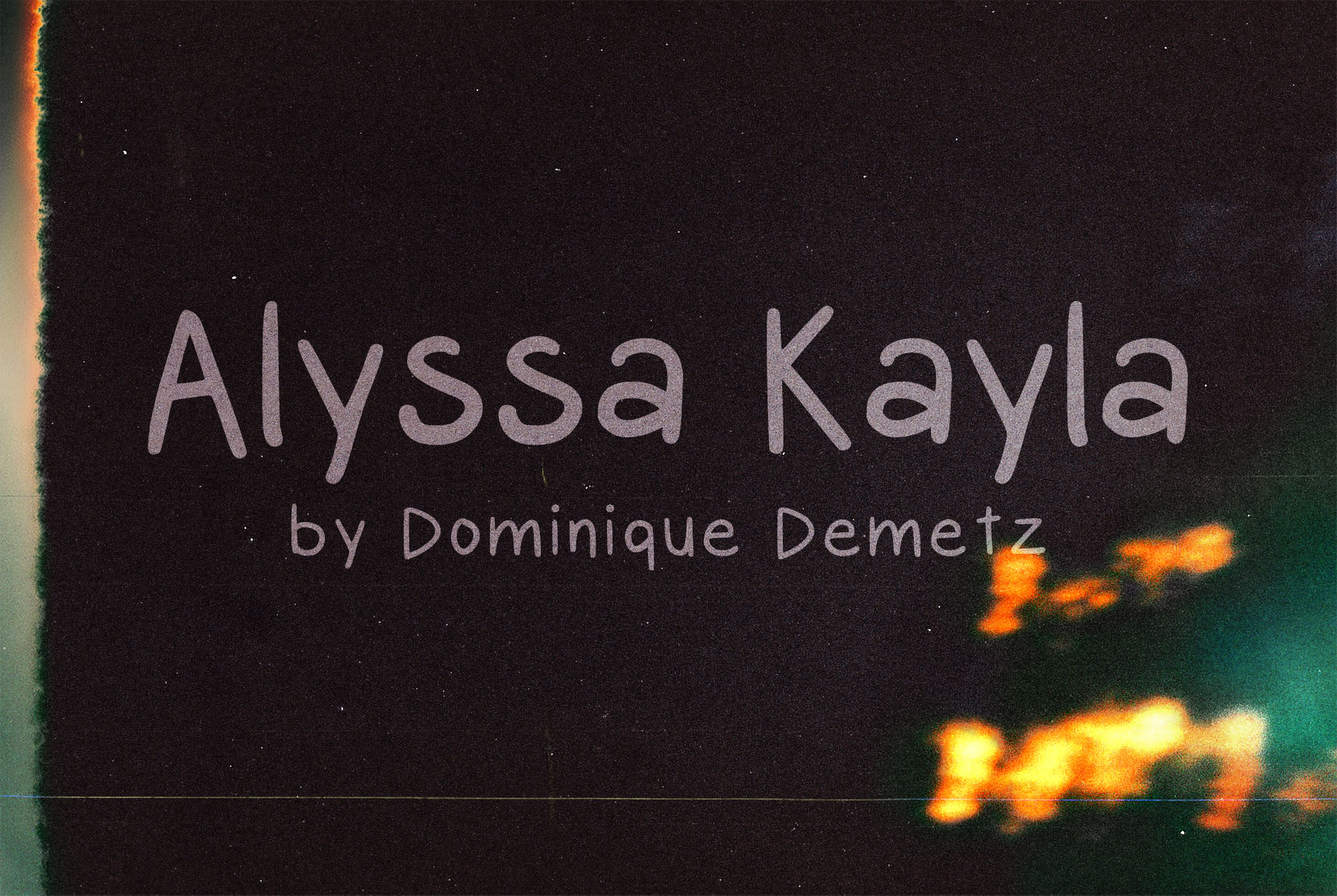 Print on Demand: Alyssa Kayla Script & Handwritten Font By Dominique Demetz - Image 1