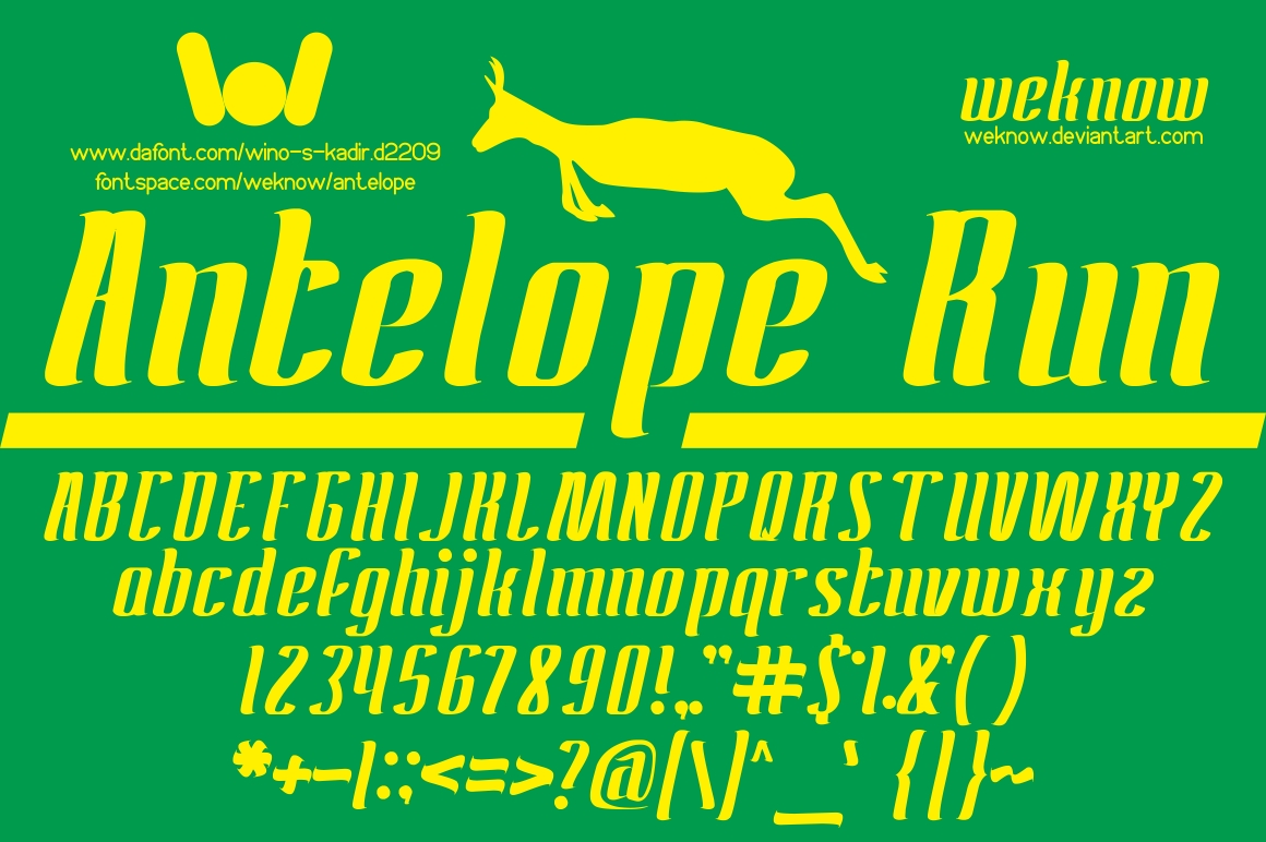 Antelope Run Font By weknow