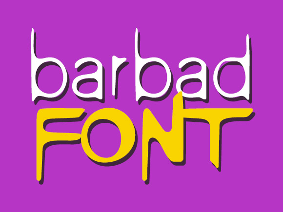 Print on Demand: Barbad Decorative Font By shahab.siavash
