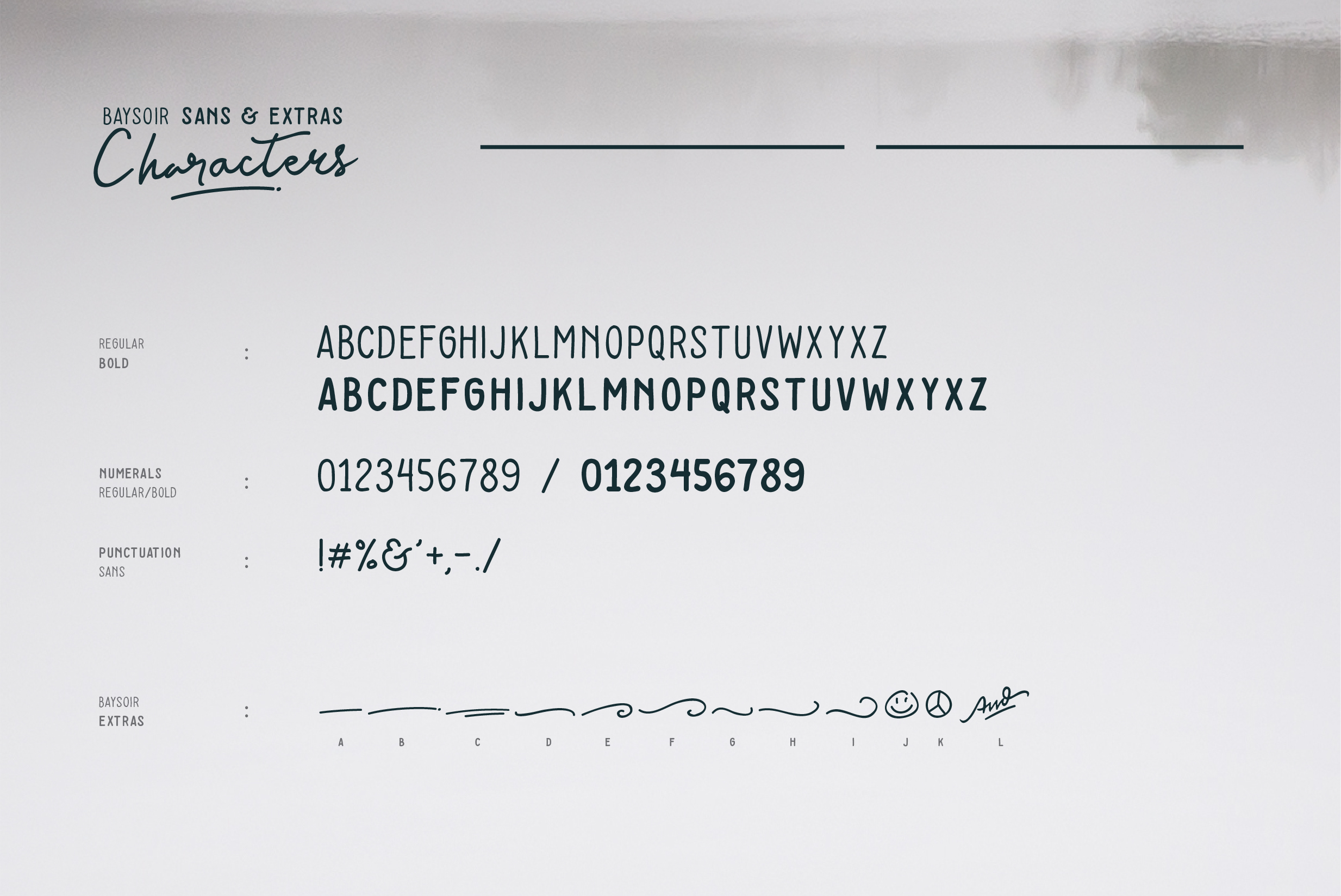 Print on Demand: Baysoir Script & Handwritten Font By Pana Type - Image 8