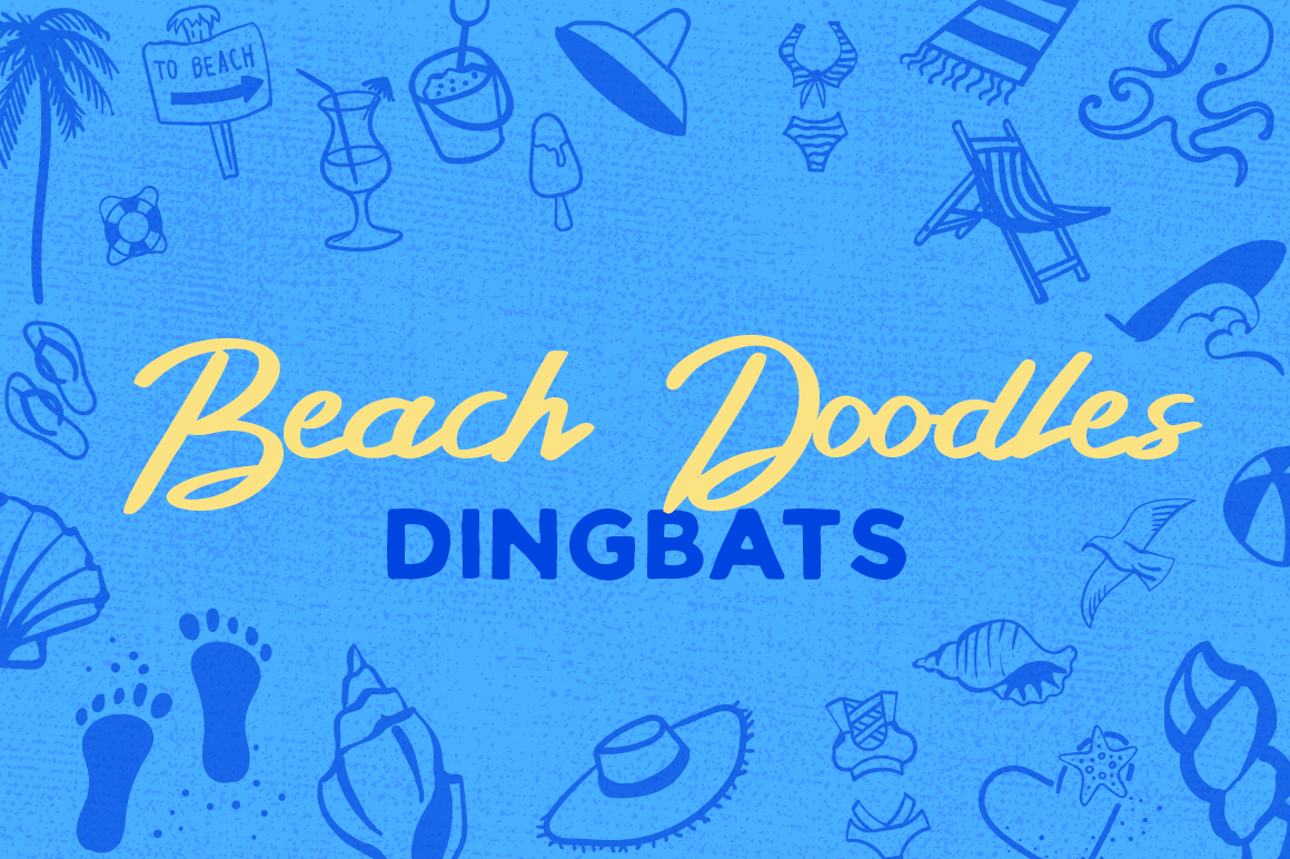 Beach Doodles Dingbat Font By Creative Fabrica Fonts