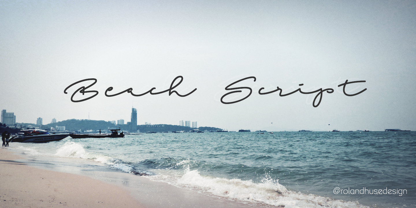 Print on Demand: Beach Script Script & Handwritten Font By Roland Hüse Design