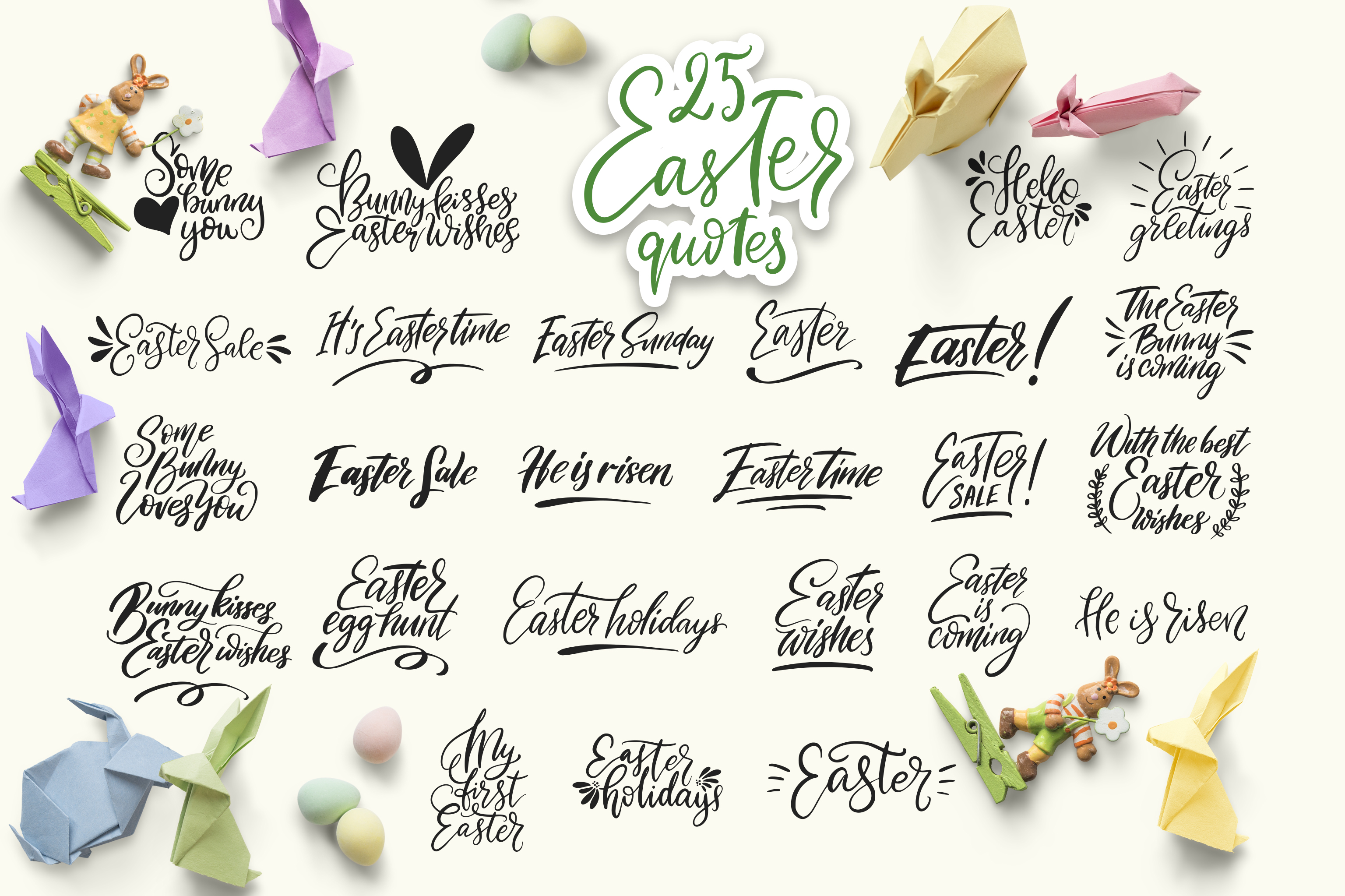 Print on Demand: Big Easter Set, 303 Elements. Graphic Illustrations By Red Ink - Image 4