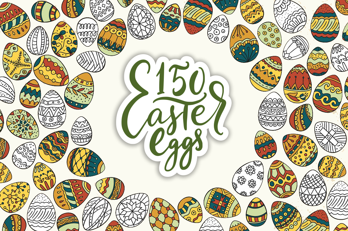 Print on Demand: Big Easter Set, 303 Elements. Graphic Illustrations By Red Ink - Image 6