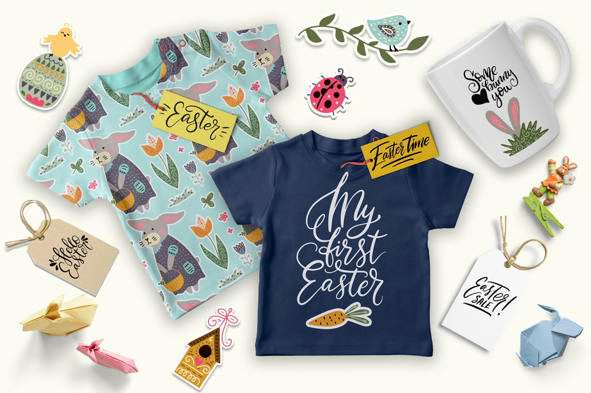 Print on Demand: Big Easter Set, 303 Elements. Graphic Illustrations By Red Ink - Image 7