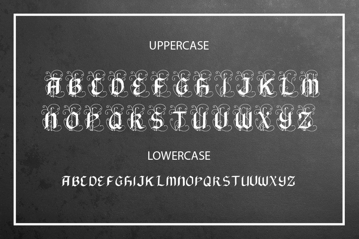 Print on Demand: Black Arrow Blackletter Font By InkandBrush - Image 2