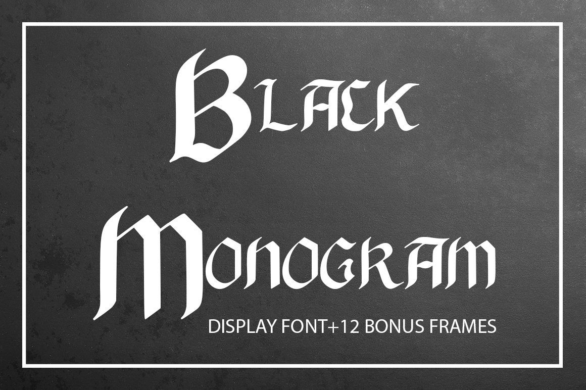 Black Monogram Creator Display Font By InkandBrush