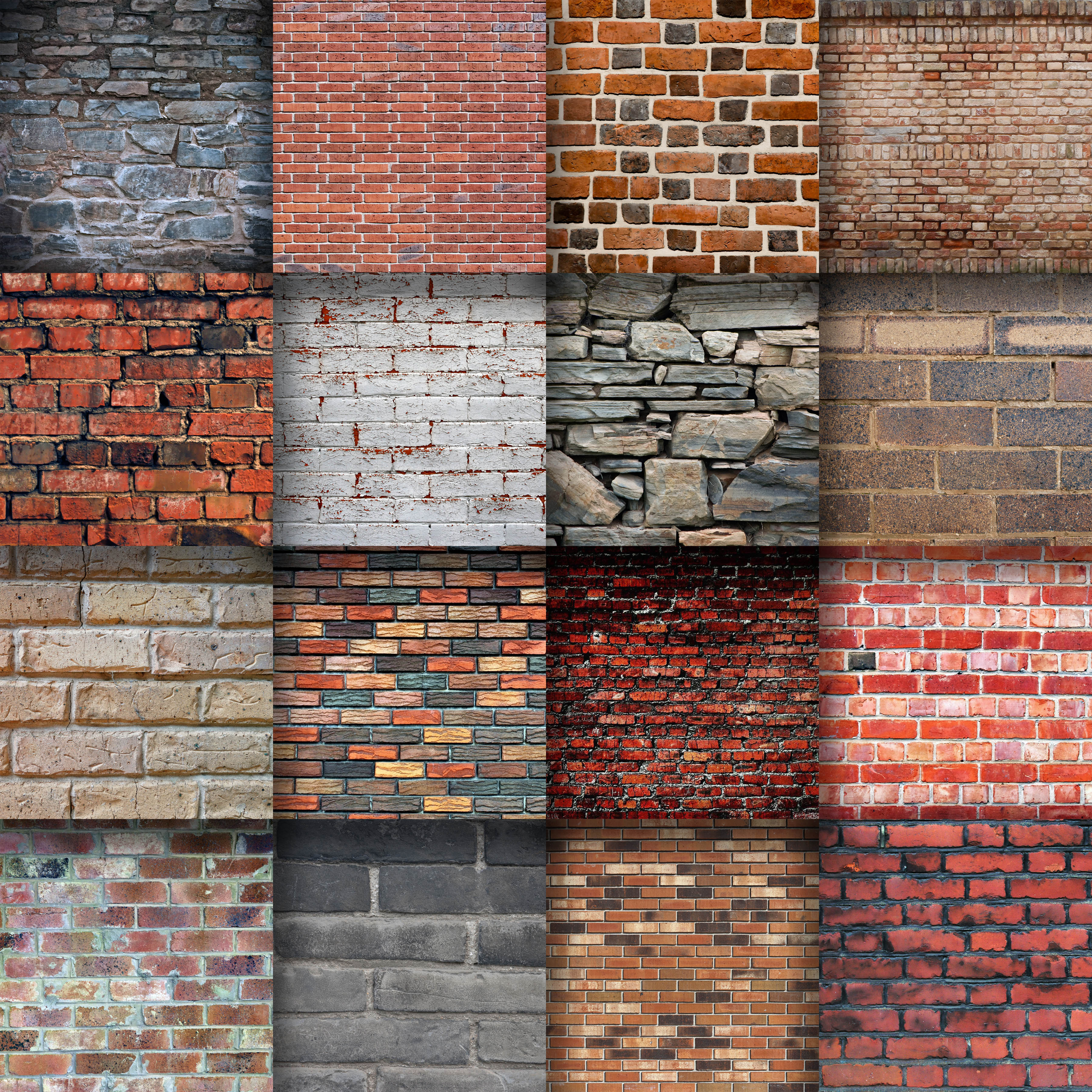 Brick Wall Digital Paper Textures Graphic Backgrounds By oldmarketdesigns - Image 2