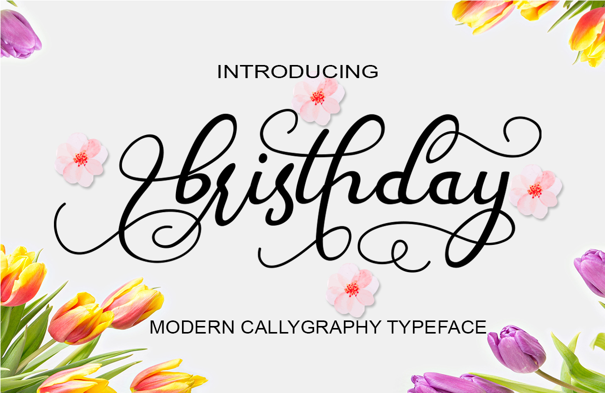Print on Demand: Bristhday Script & Handwritten Font By siwah.wah52 - Image 1