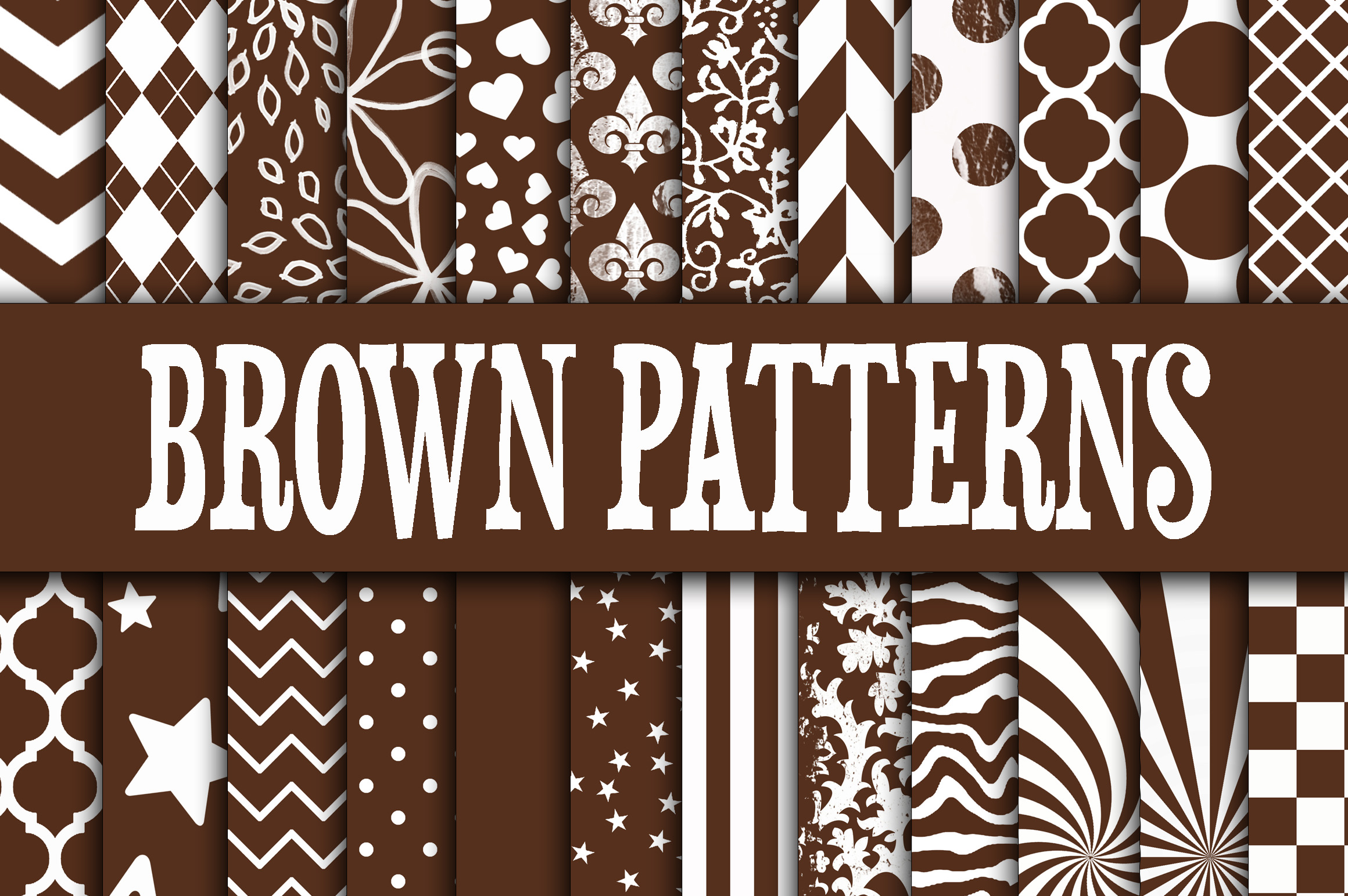 Download Free Brown Patterns Digital Paper Graphic By Oldmarketdesigns for Cricut Explore, Silhouette and other cutting machines.