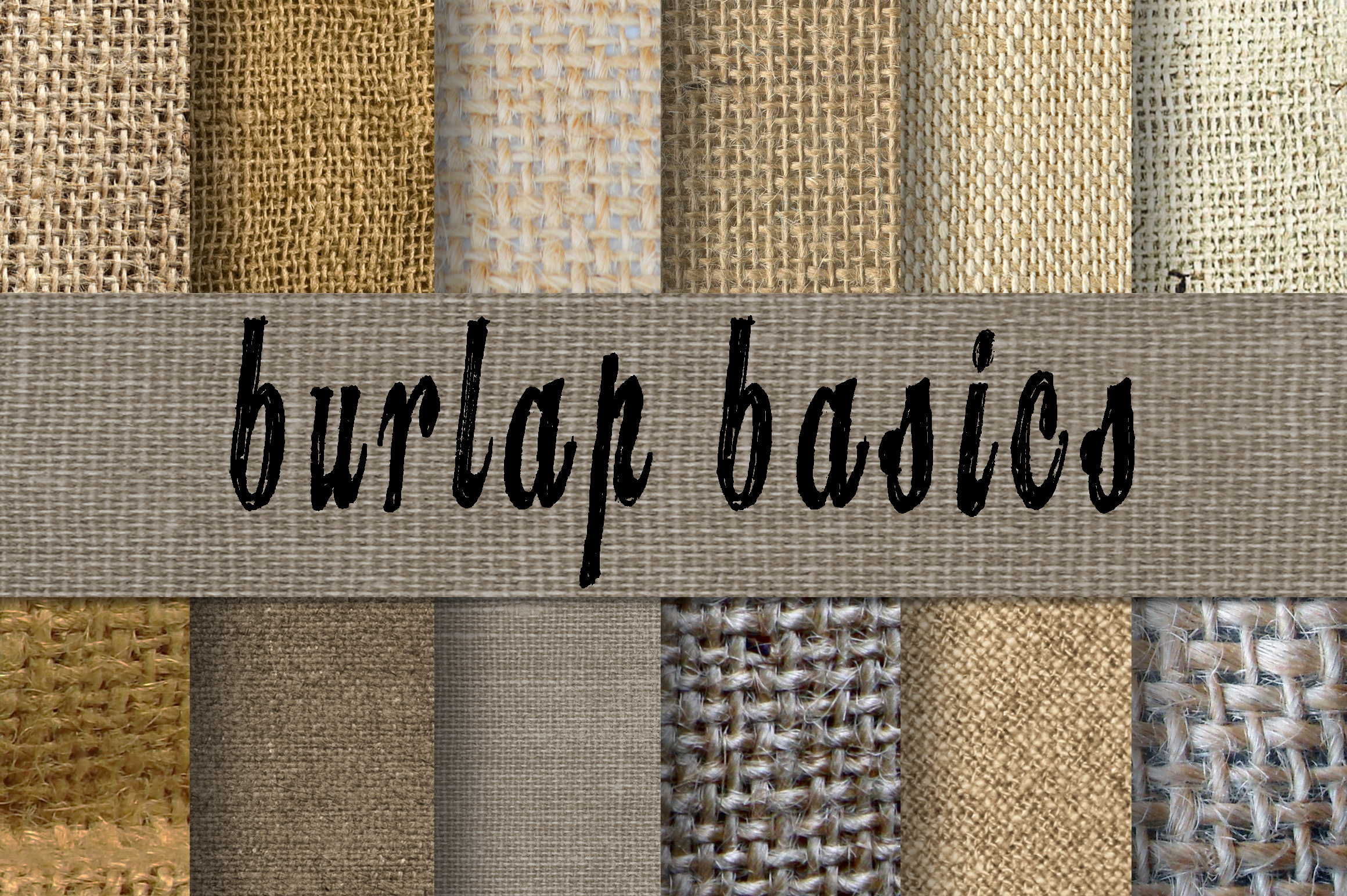 Print on Demand: Burlap Textures Digital Paper Graphic Backgrounds By oldmarketdesigns