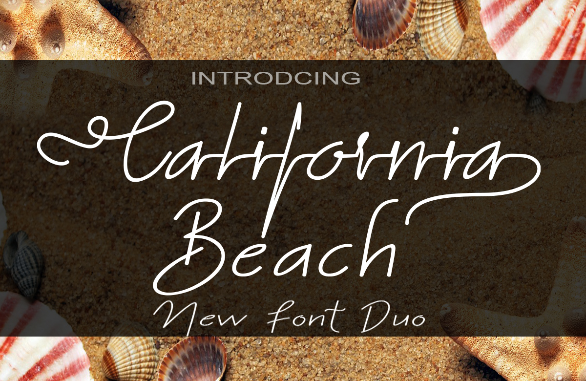 California Beach Duo Script & Handwritten Font By art design
