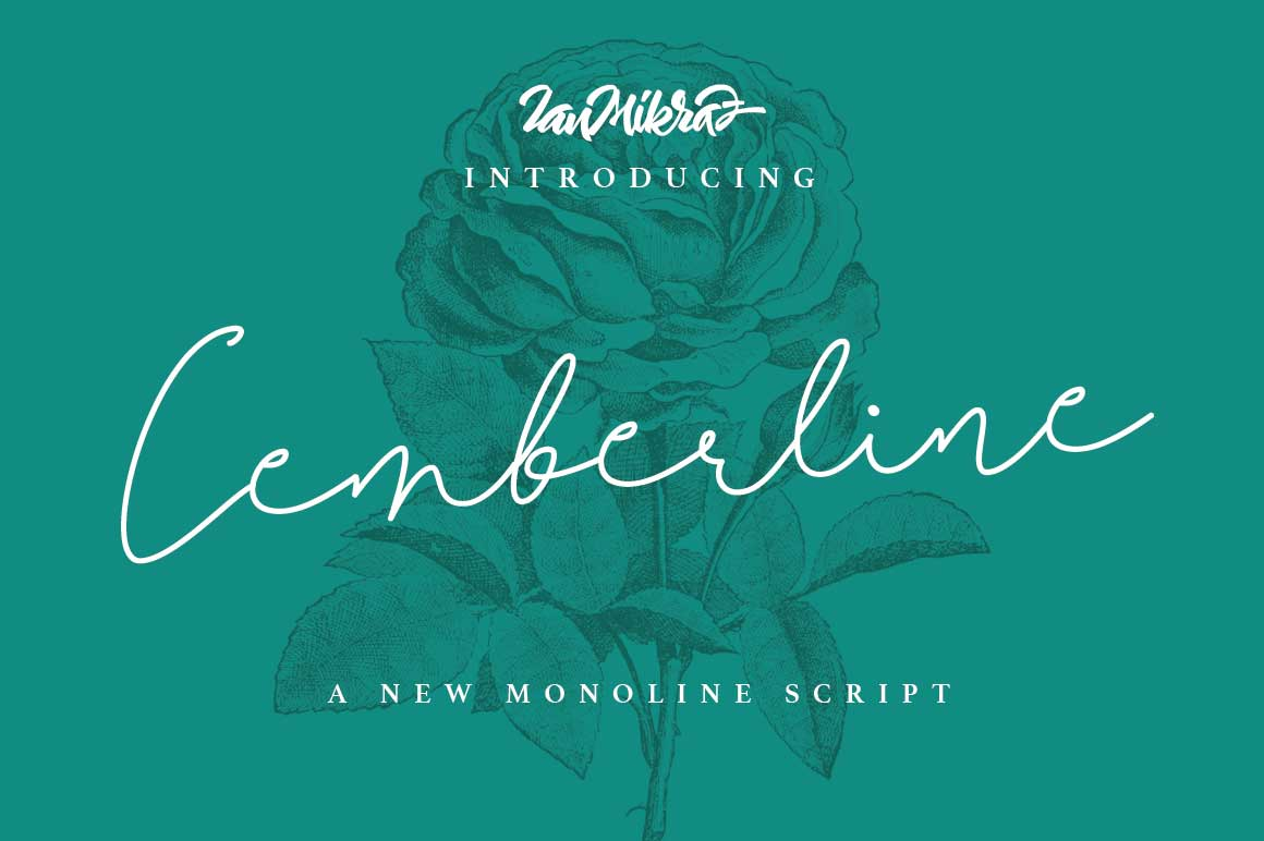 Print on Demand: Cemberline Script & Handwritten Font By Ian Mikraz