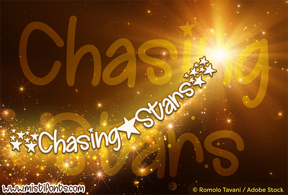 Print on Demand: Chasing Stars Script & Handwritten Font By Misti