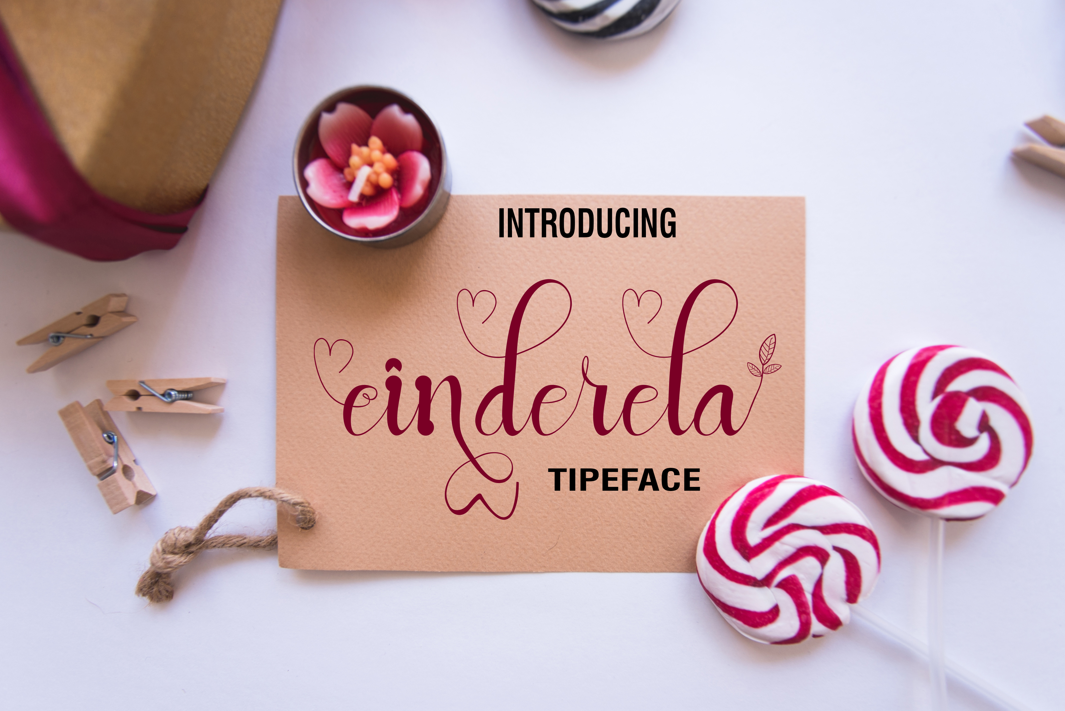 Print on Demand: Cinderela Script & Handwritten Font By maydhen studio