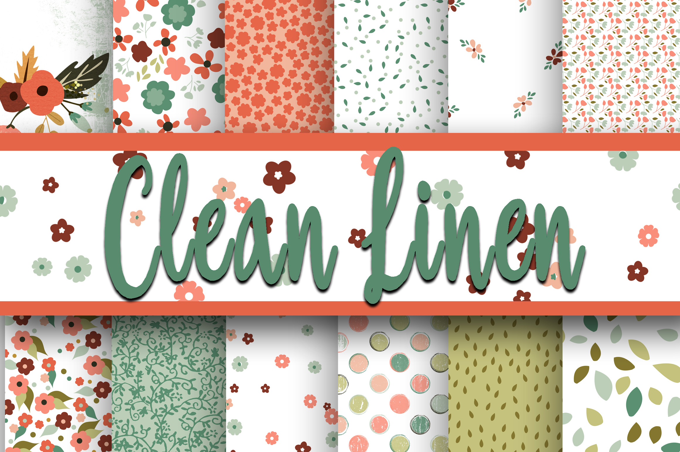 Print on Demand: Clean Linen Digital Paper Graphic Backgrounds By oldmarketdesigns