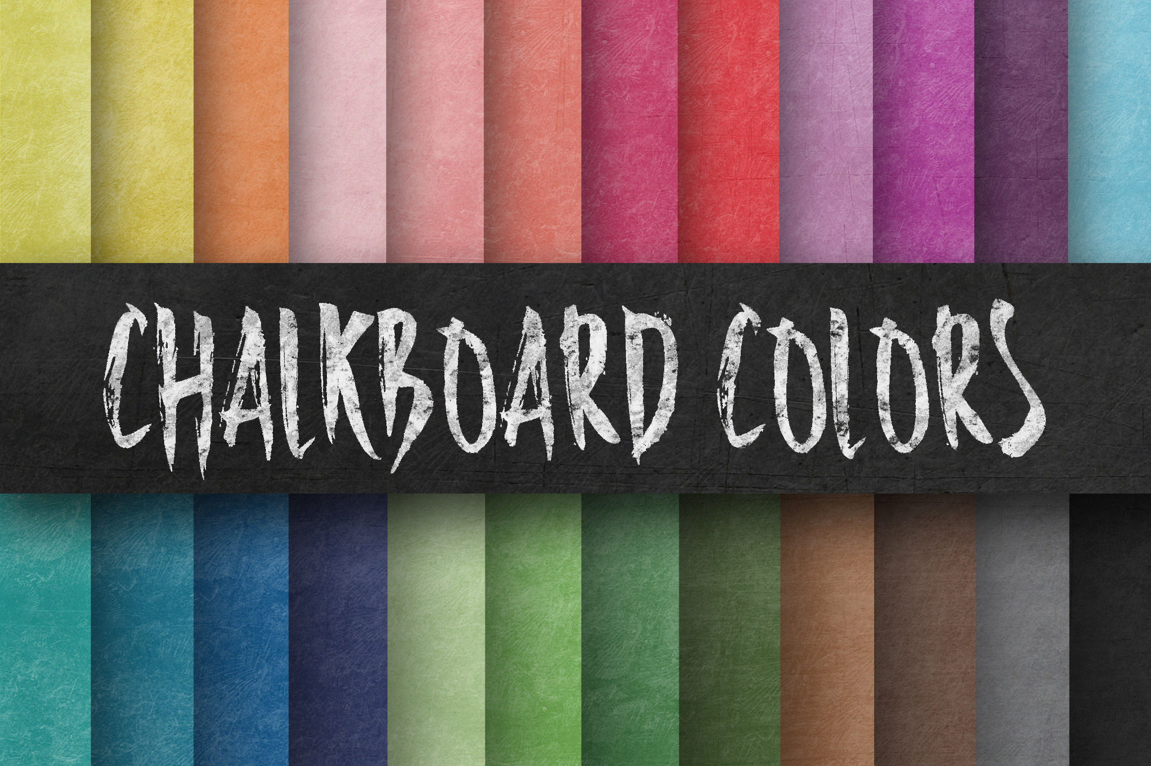 Colorful Chalkboard Paper Textures Digital Paper Graphic By oldmarketdesigns