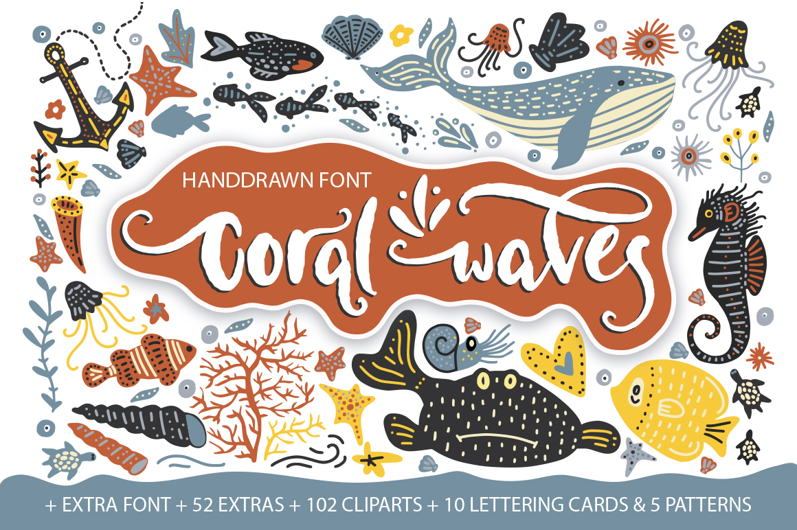 Coral Waves Font By Red Ink