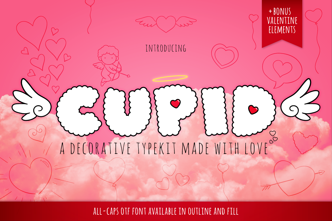 Print on Demand: Cupid Display Font By Creative Fabrica Fonts