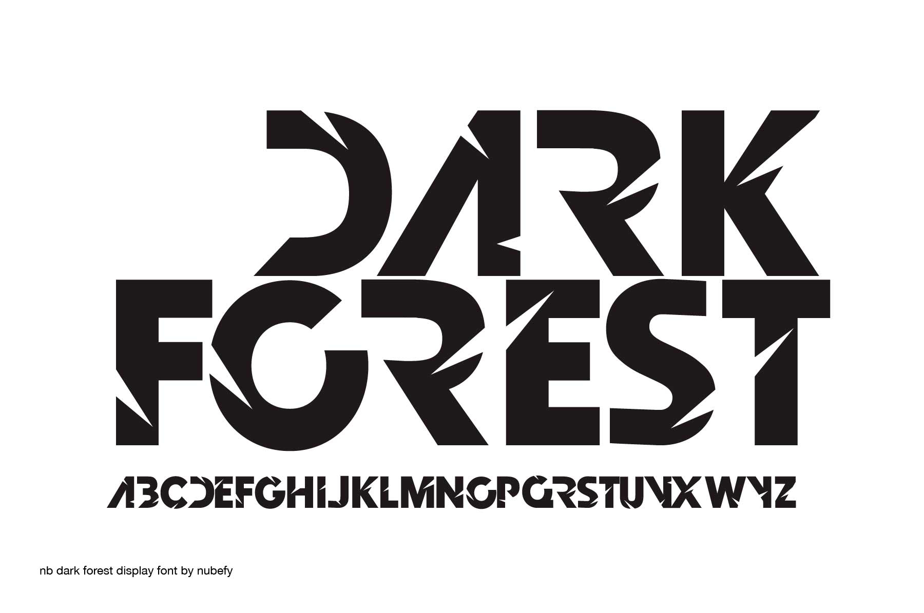 Print on Demand: Dark Forest Display Font By nubefy