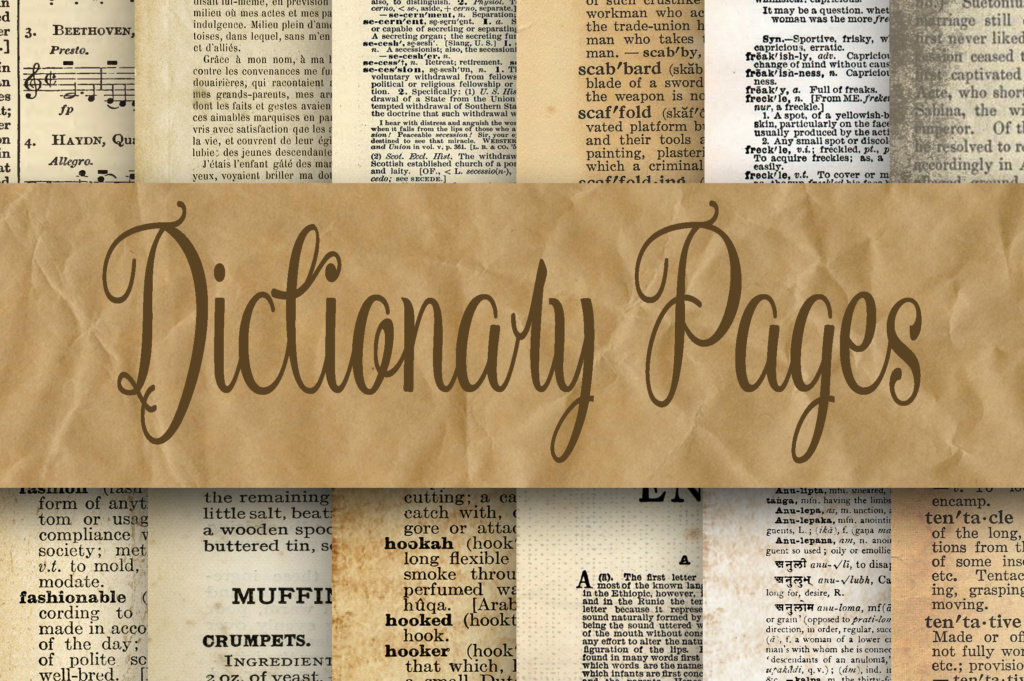 Download Free Dictionary Pages Digital Paper Graphic By Oldmarketdesigns SVG Cut Files