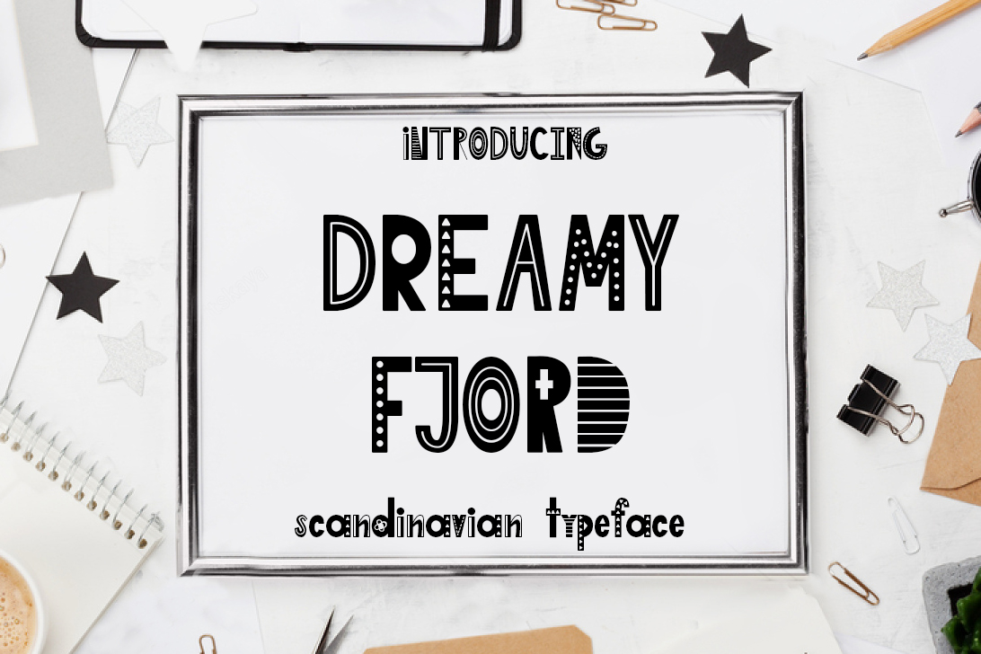 Dreamy Fjord Display Font By tregubova.jul