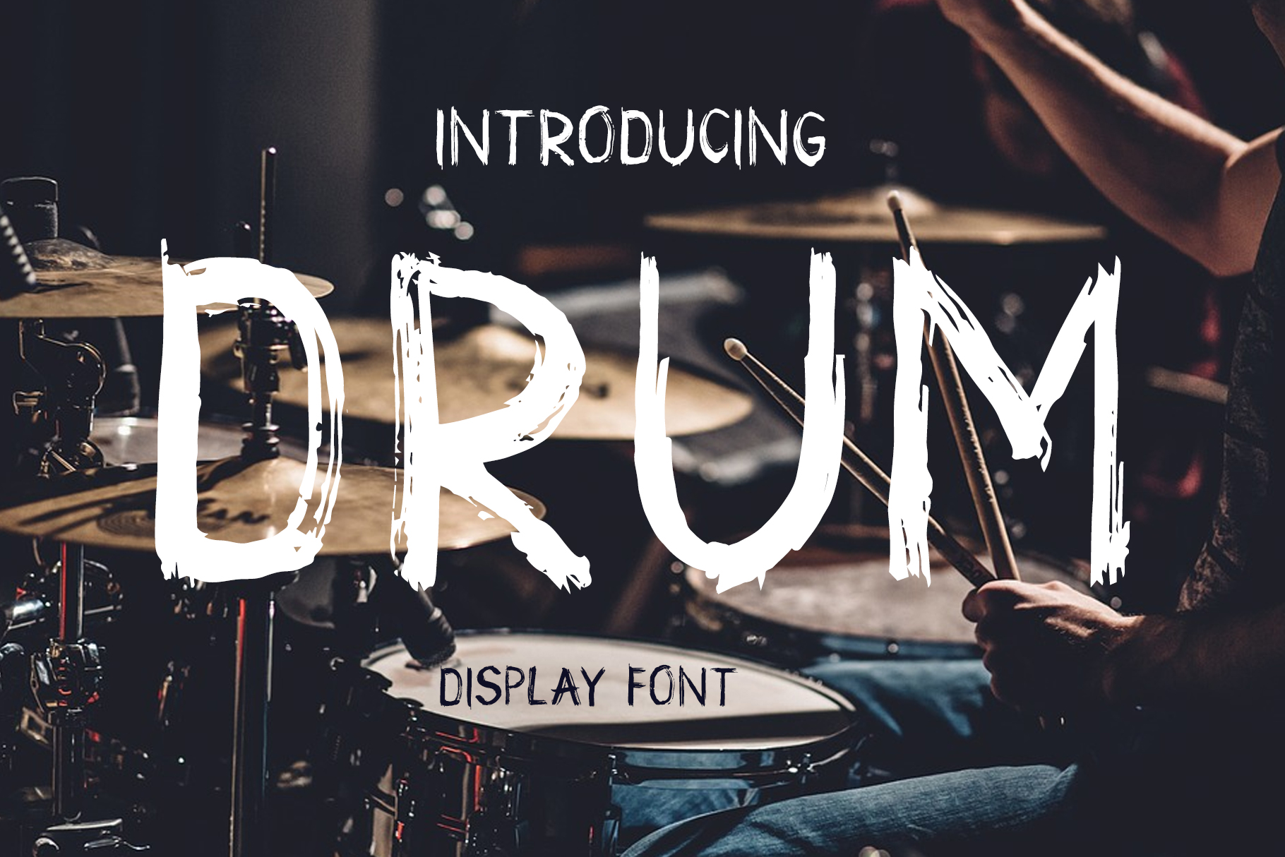 Print on Demand: Drum Script & Handwritten Font By Peliken