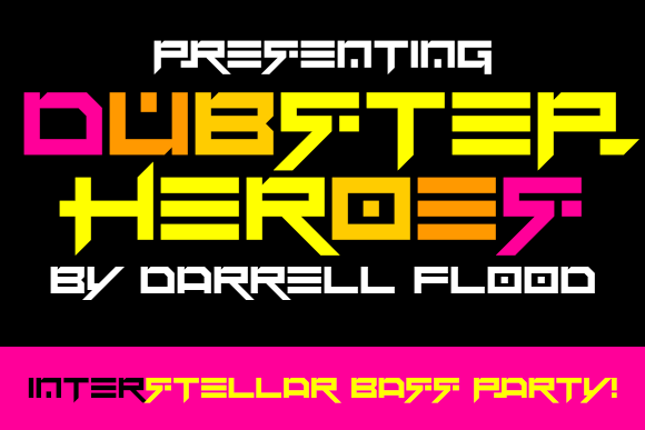 Print on Demand: Dubstep Heroes Display Font By Dadiomouse