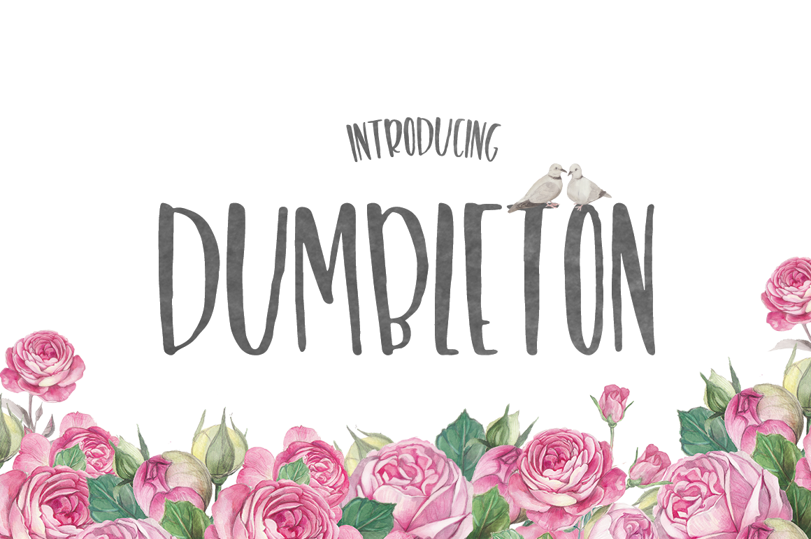 Print on Demand: Dumbleton Display Font By Maroon Baboon