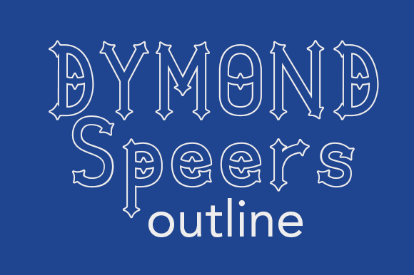 Dymond Speers Outline Font By Dymond Speers