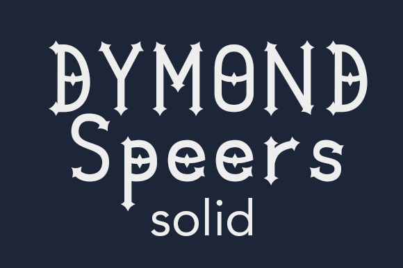 Dymond Speers Solid Font By Dymond Speers