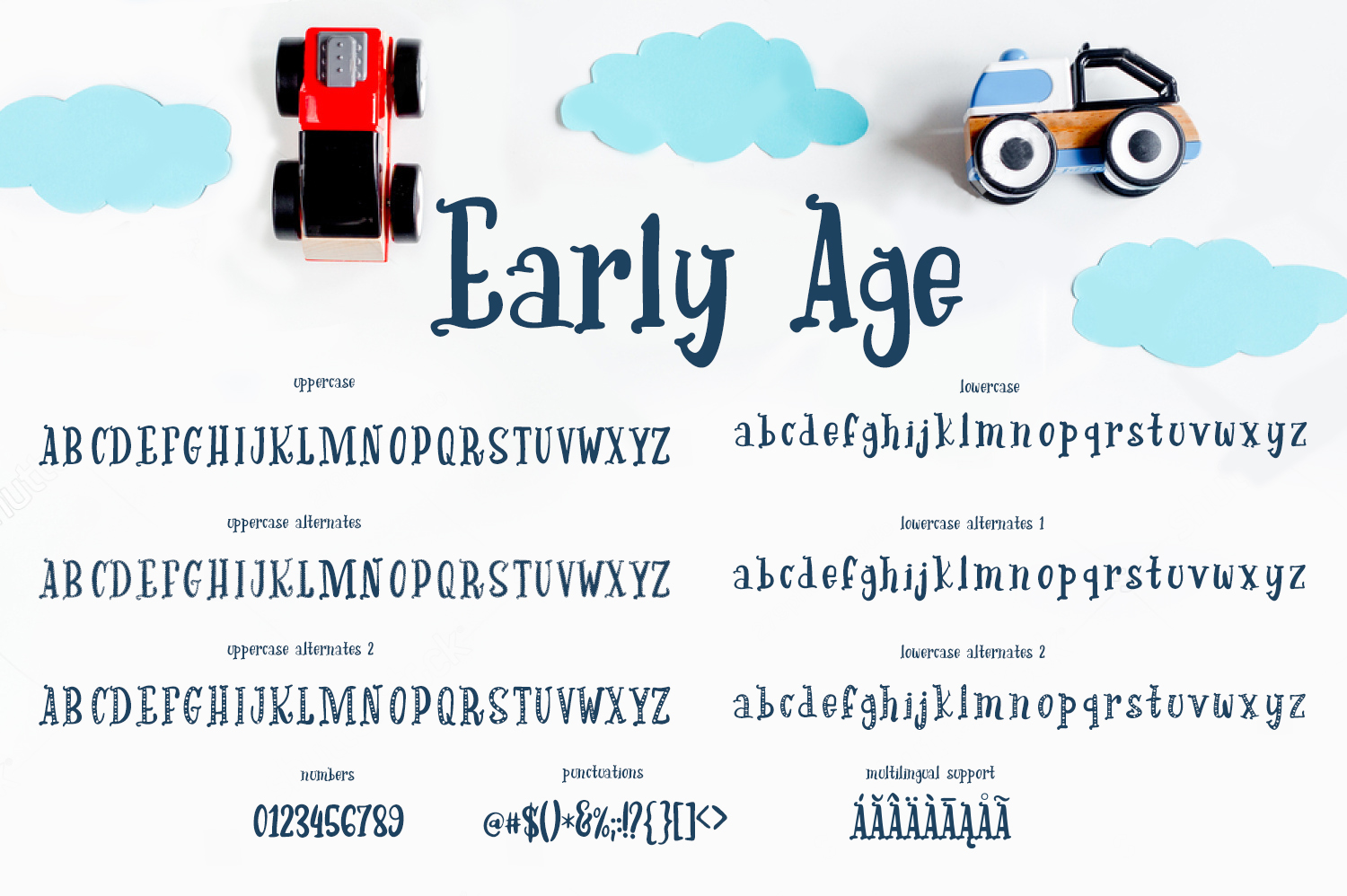 Early Age Font By tregubova.jul Image 3