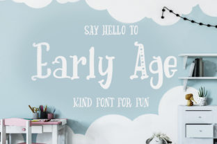 Early Age Font By tregubova.jul