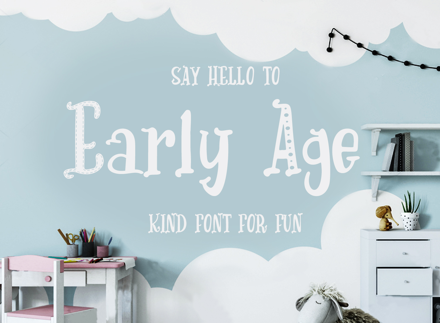 Print on Demand: Early Age Display Font By tregubova.jul
