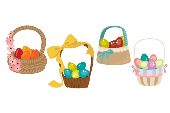 Colorful Easter Baskets SVG Easter Craft Cut File By Creative Fabrica Crafts
