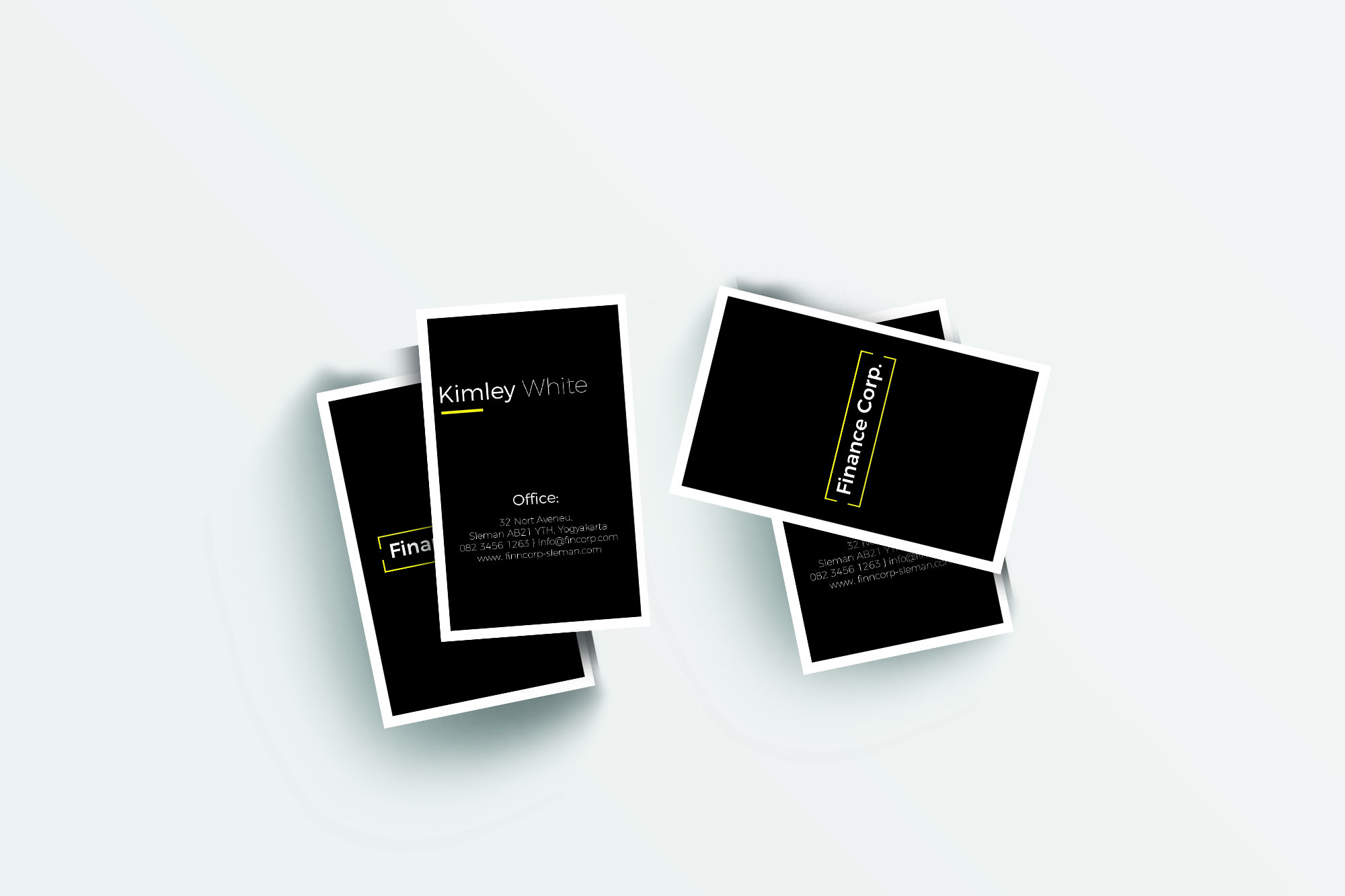 Finance Business Card Graphic Print Templates By harizandy