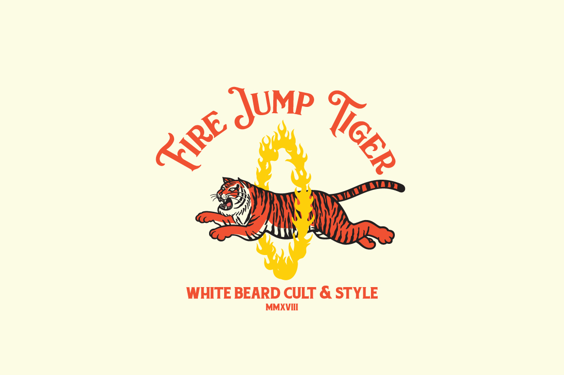 Fire Jump Tiger Logo Template Graphic Logos By KreasiMalam