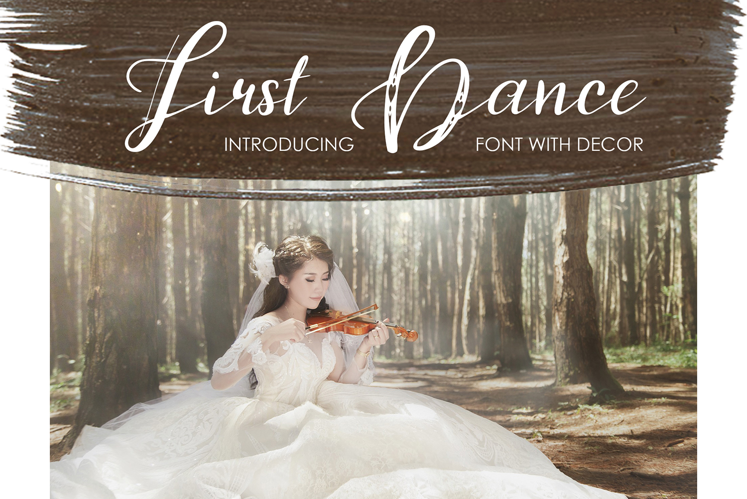 First Dance Script & Handwritten Font By tregubova.jul
