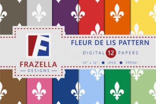 Download Free Fleur De Lis Pattern Digital Paper Collection Graphic By for Cricut Explore, Silhouette and other cutting machines.