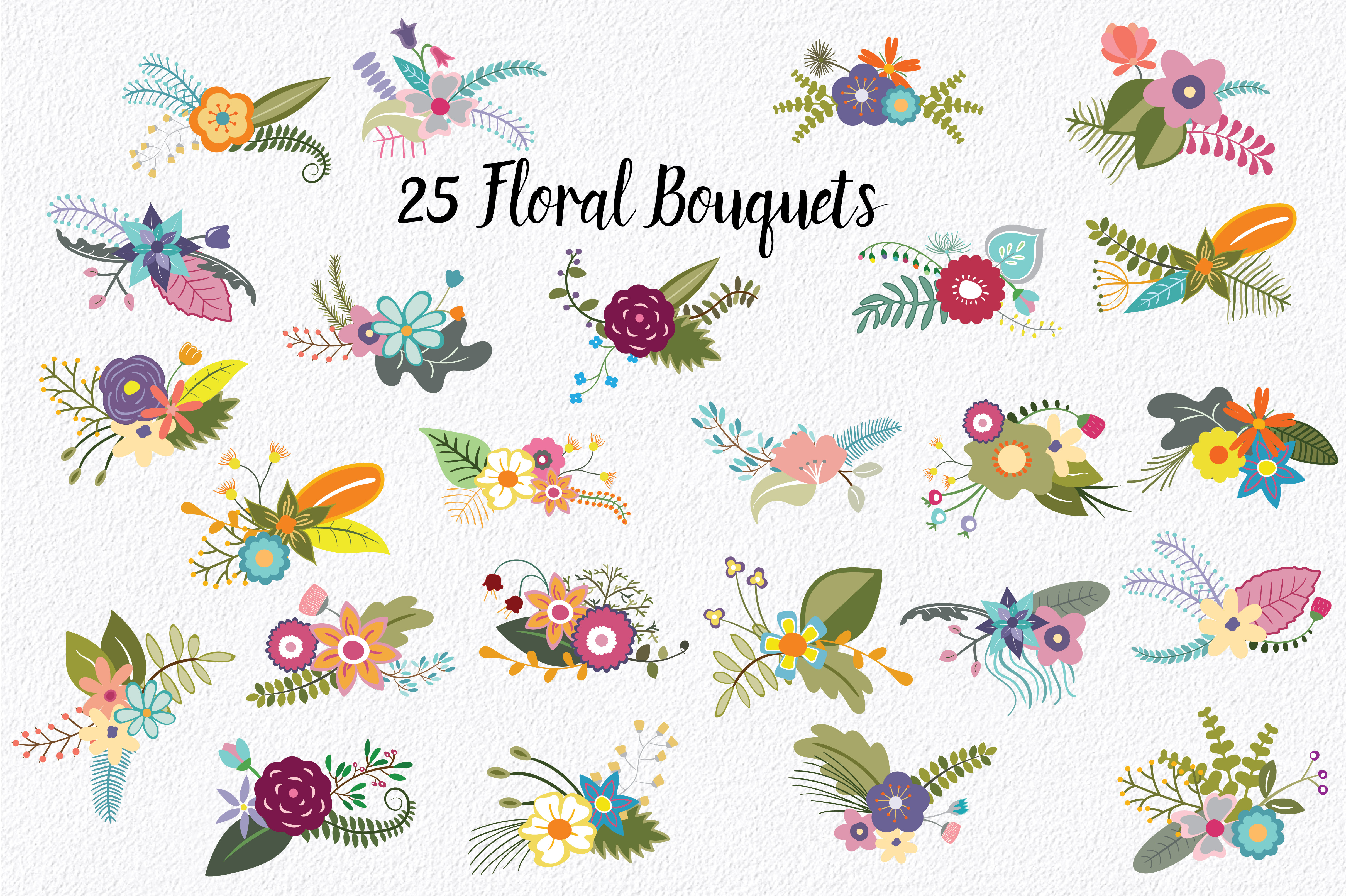 Flowers of Camelot Clip Art Graphic Illustrations By oldmarketdesigns - Image 3