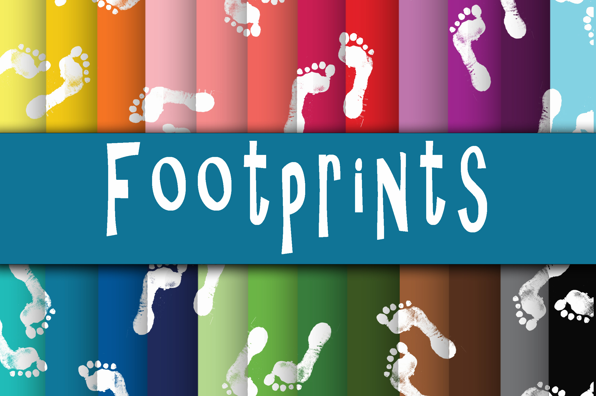 Footprints Digital Papers Graphic Backgrounds By oldmarketdesigns