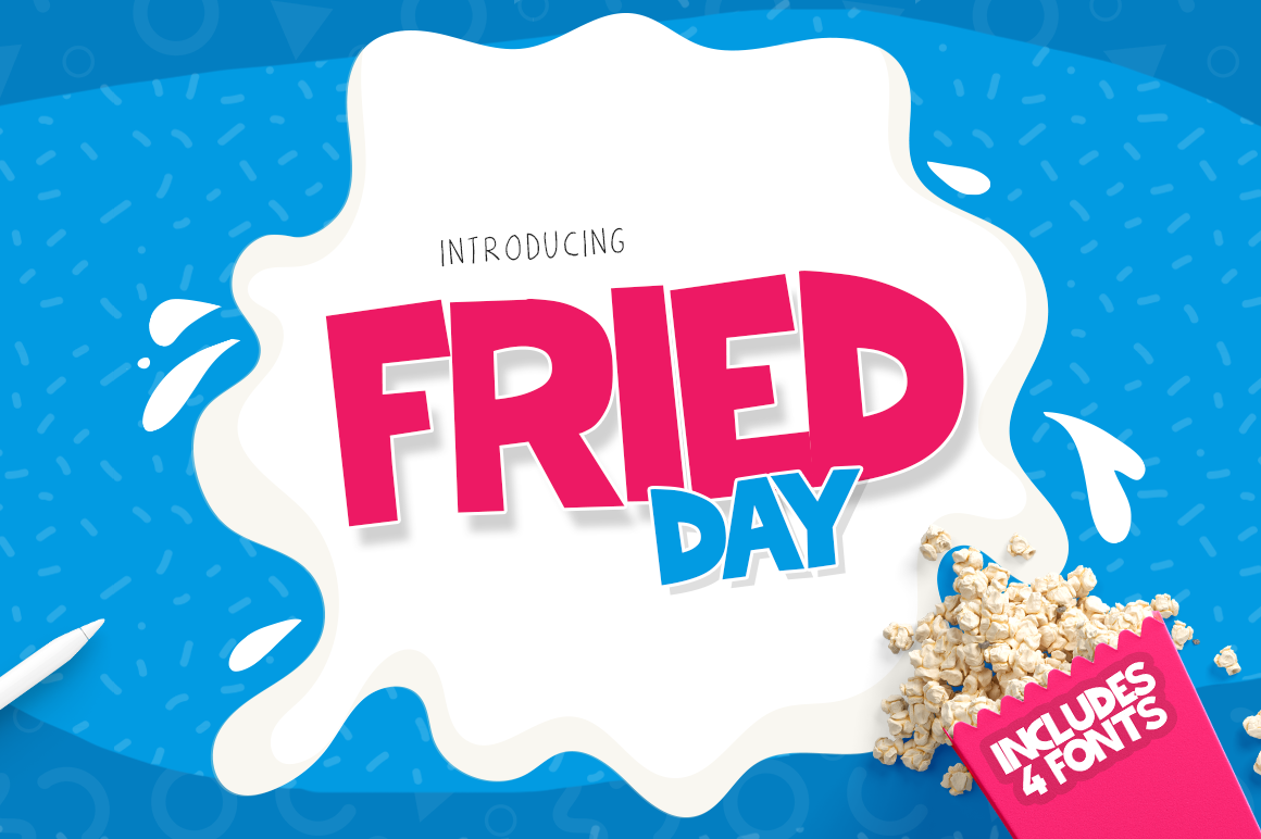 Print on Demand: Fried Day Family Display Font By Salt & Pepper Designs